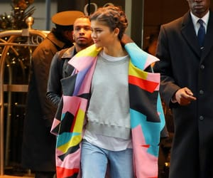 coat, colourful, and new york image