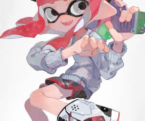game, inkling, and splatoon image