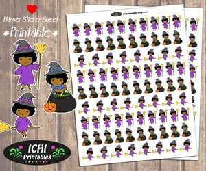 african american, etsy, and halloween stickers image