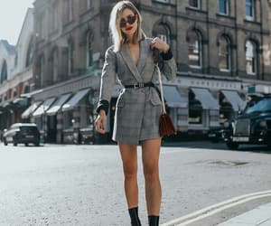 blazer, fashion, and grey blazer image