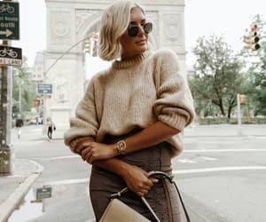 classy, fashion, and knitwear image