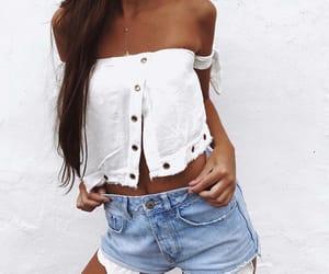 denim, denim shorts, and summer fashion image