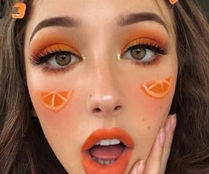 makeup, orange, and aesthetic image
