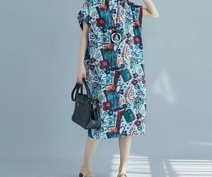 blue dresses, linen dress, and womens dresses image