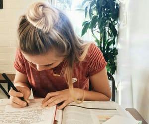 school, study, and girl image