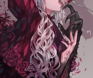 anime girl, bloody, and fairytales image
