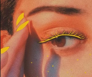 yellow, aesthetic, and makeup image