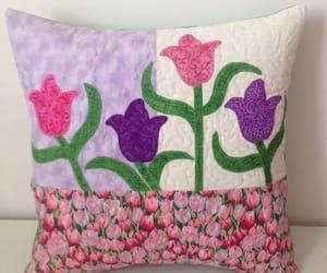 tecido, decorado, and tulipa image