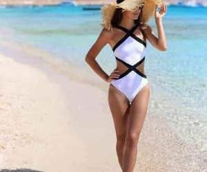 beach, beachwear, and pics image