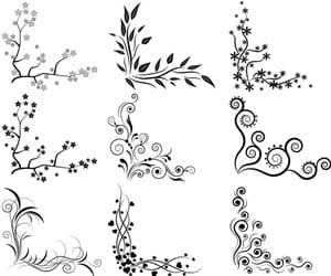 art, black, and doodles image