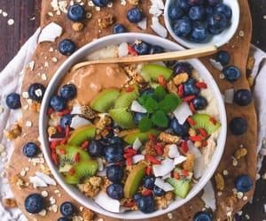 blueberries, food photography, and kiwi image