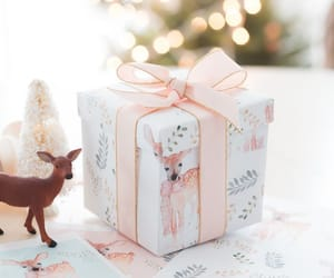 christmas, holiday, and deer image