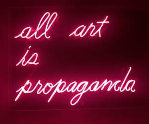 art, neon, and propaganda image