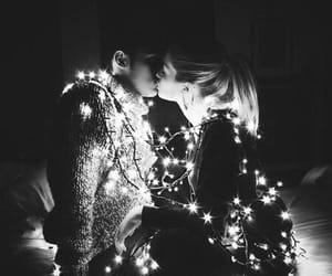 boy and girl, smile, and kiss image