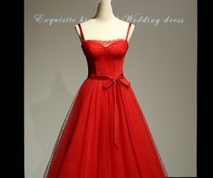 dress, red, and red evening dresses image