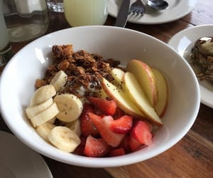 apple, berries, and granola image