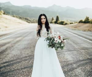 beauty, white, and dress image