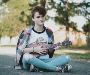 androgynous, music, and fall image