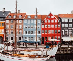 boat, denmark, and house image