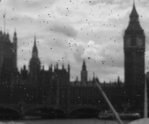 black and white, clouds, and london image