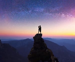 couple, sky, and stars image