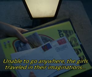 text, the virgin suicides, and travel image