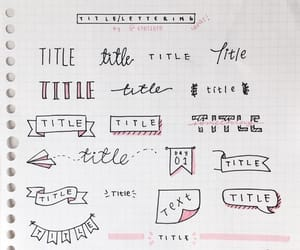 title, school, and bullet journal image