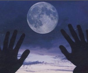 moon, universe, and moon lover image