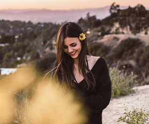 victoria justice, beautiful, and flowers image