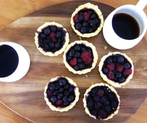 berry, coffee, and dessert image