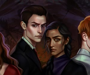 book illustration, book characters, and six of crows image