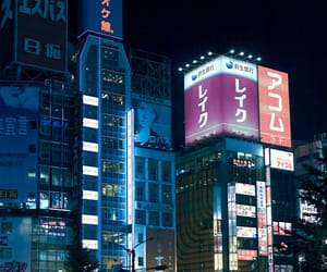 japan, city, and light image