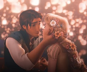 love, kiss, and tangled image