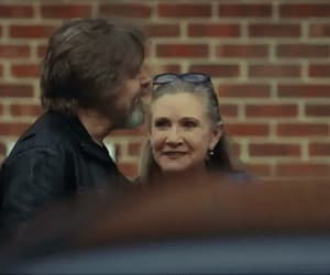 carrie fisher, star wars, and gif image