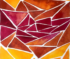 autumn, pattern, and watercolour image