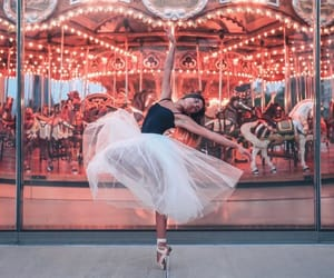 ballerina, carousel, and dance image