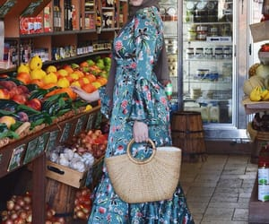 fashion, floral, and floral dress image