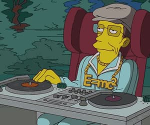art, stephen hawking, and the simpsons image