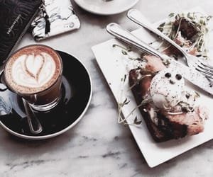 cafe, gourmandise, and tartine image