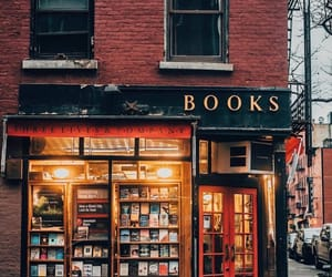 book, autumn, and bookstore image