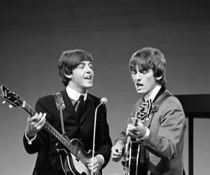 george harrison, Paul McCartney, and the beatles image