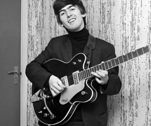 george harrison, the beatles, and guitar image