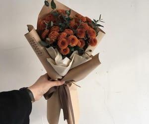 flowers, aesthetic, and orange image