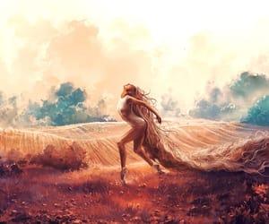 art, meadow, and beautiful image
