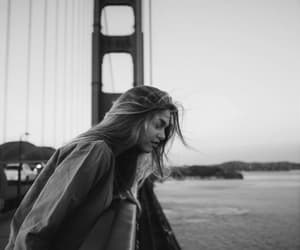 girl, travel, and bridge image