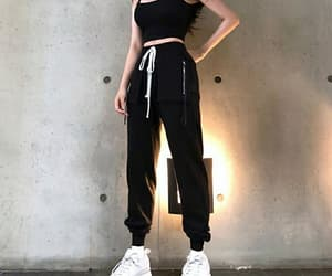 black, clothes, and soft image