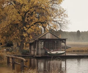 autumn, beauty, and boat image