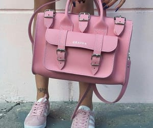 bag, pink, and grafea image
