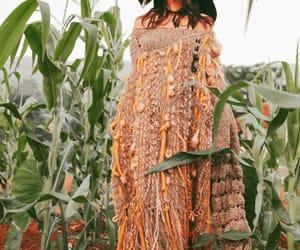 brown, corn, and dress image