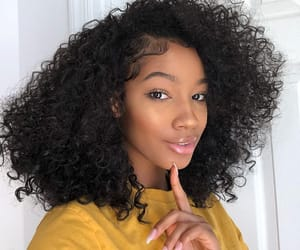 curls, hair, and yellow image